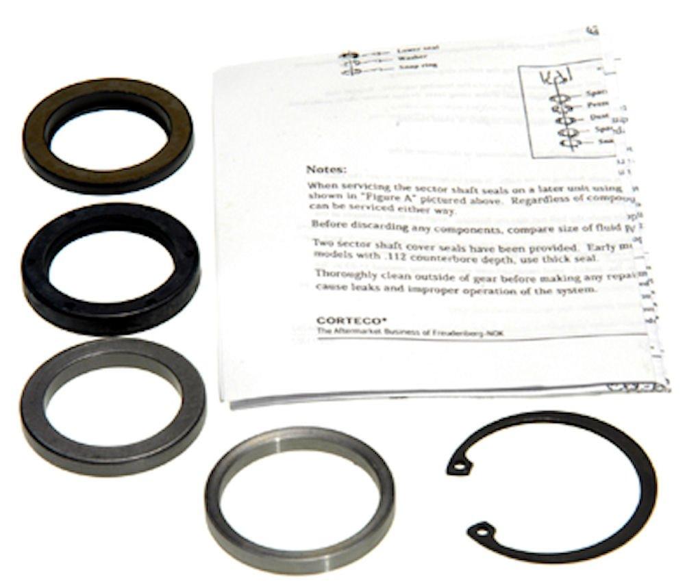 Edelmann 8531 Power Steering Gear Box Lower Pitman Shaft Seal Kit