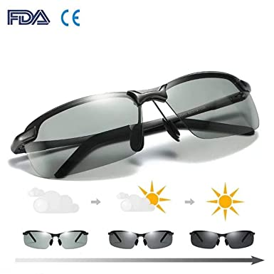 472209f26b Men s Driving Polarized Sunglasses Day and Night Vision Glasses UV400  Protection for Driving Fishing Golf Outdoor