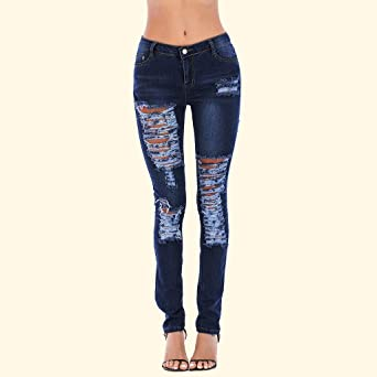 Luckycat Vaqueros Jeans Push up Vaqueros Elasticos Mujer ...
