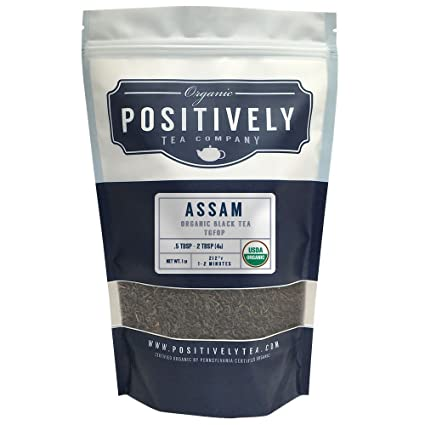 Organic Assam TGFOP Tea, Loose Leaf Bag, Positively Tea LLC. (1 LB.)