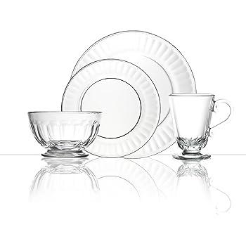 Amazon.com | Mainstays 12-piece Square Glass Dinnerware