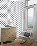 RoomMates RMK9018WP Modern Trellis Peel and Stick Wallpaper Décor