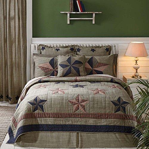 VHC Brands Vincent 29212 Quilt, Queen - Americana Queen Quilts
