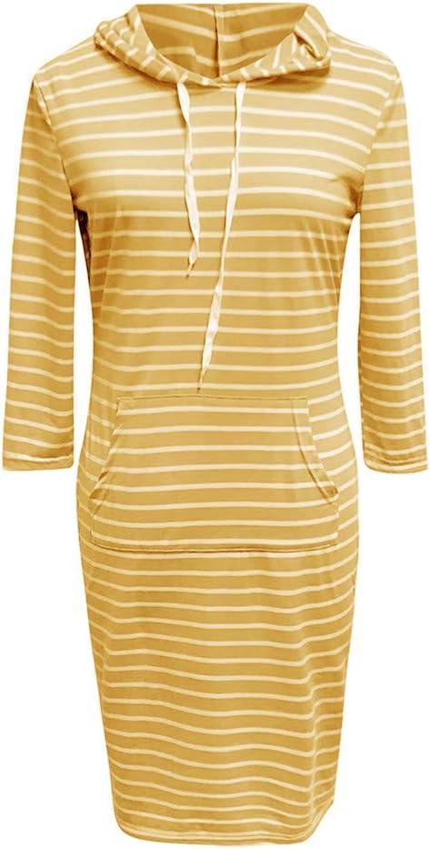 Shenye damska sukienka z kapturem, w paski, z długim rękawem, rozmiar plus, sukienka mini, z długim rękawem, rozciągliwa, elegancka, jednokolorowa, minisukienka wieczorowa na jesień, zimę, c