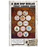 Hudson's Holiday Designs HHD369 12 Hoop Necklace Pendant Embroidery Designs for Craftwork, Mini