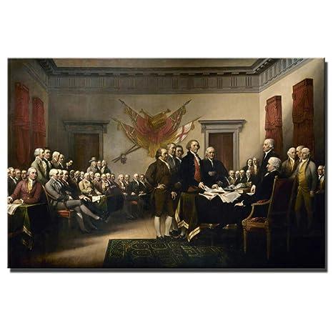 Wieoc La Declaración De Independencia Pintura Al Óleo ...