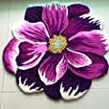 Hughapy Flower Design Bedroom Mat Antiskid Carpet/Area Rug,1PC