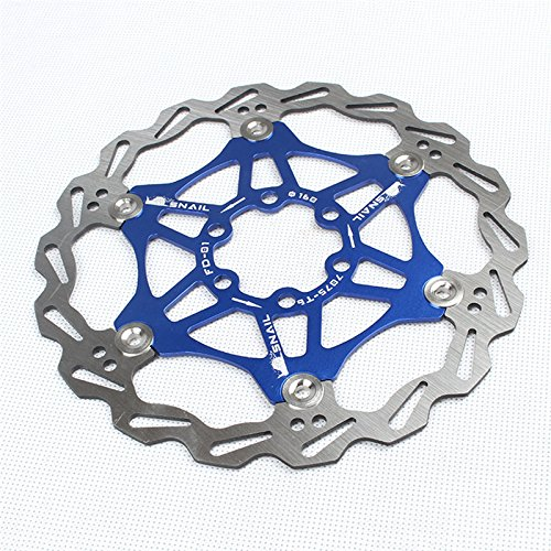 US-PopTrading Mountain Bike Floating,160mm 180mm Disc Brake Rotor Stainless Steel Bike Disc Brake Rotor for Most Bicycle Road Bike Mountain Bike BMX MTB