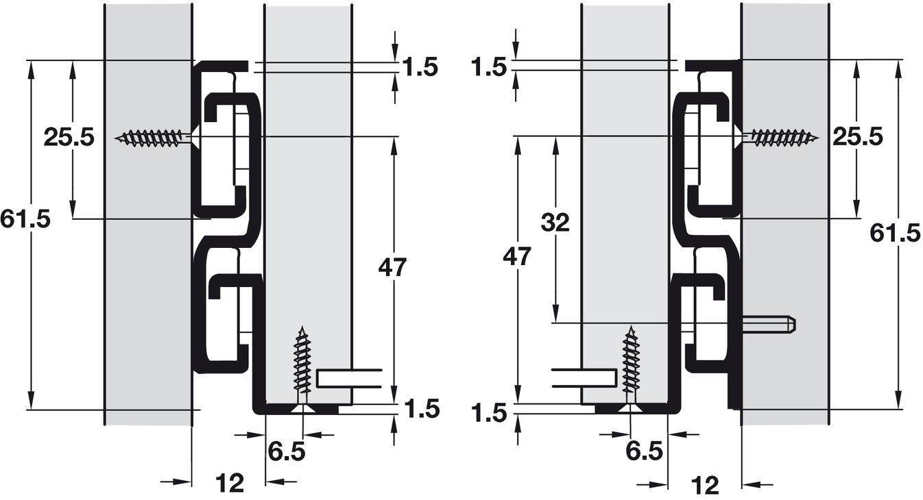 Ausz/üge wei/ß f/ür Holz-Schubk/ästen M/öbelbeschl/äge 1 Paar K/üchen-Auszugsschiene mit 40 kg Tragkraft Gedotec Schubladenschienen Vollauszug 250 mm Rollschubf/ührung f/ür Schubladen zum nachr/üsten