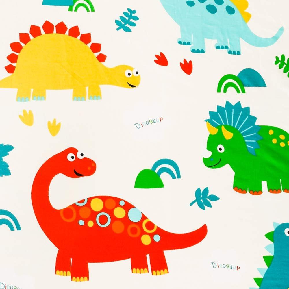 JISEN Changing Pad Cover 100/% Natural Cotton Soft Mini Crib Sheets 40x81cm for Boys and Girls 1 Pack Blue Dinosaur