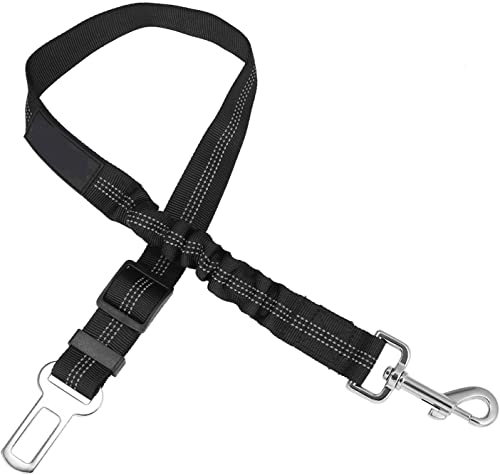 Fashion cool Dog Seat Belt, Adjustable Elastic Durable Nylon Pet Dog Car Safety Belt Cat Seat Belt Pet Puppy Safety Leash Leads Car Vehicle Seat Belt for Dogs,Cats and Pets