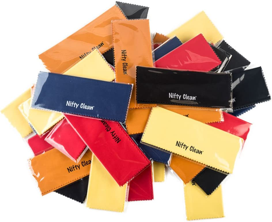 Pack of 50 - Nifty Clean Reusable Microfiber Cloth, Assorted Colors