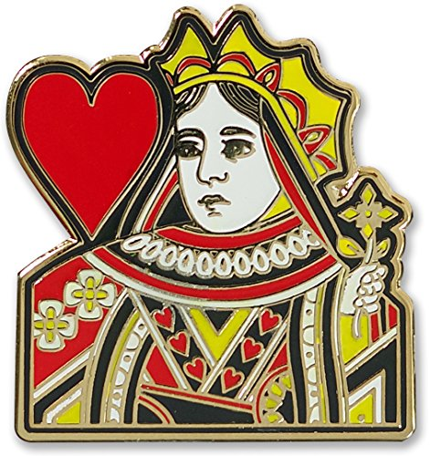 Queen of Hearts - Hard Enamel Pin (Cloisonne Pin)