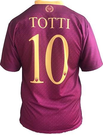 f21c69f54f Maglia Roma Francesco Totti 10 Replica Autorizzata 2018-2019 Bambino  (Taglie-Anni 2 4 6 8 10 12) Adulto (S M L XL): Amazon.it: Sport e tempo  libero