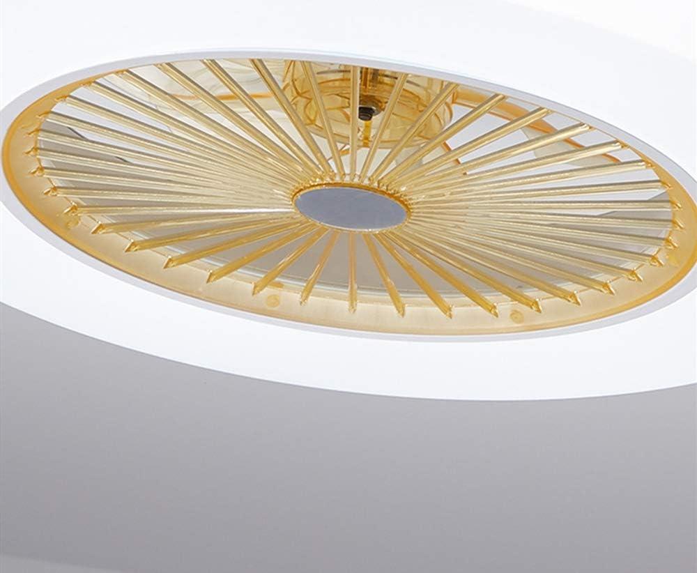 ZOOVQI Les Ventilateurs De Plafond avec /Éclairage 76W Creative Invisible Ventilateur LED Plafonnier T/él/écommande Dimmable Ultra-Silencieux Can Lustres Lampe Chambre Moderne Salon /Φ58 H19cm,Rose