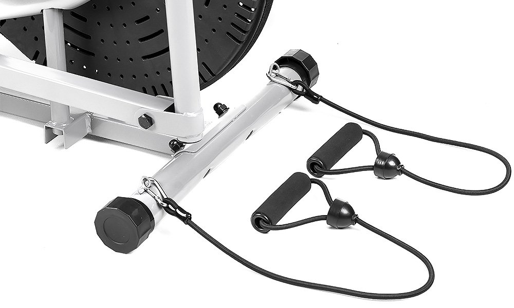 cross trainer with resistance bands