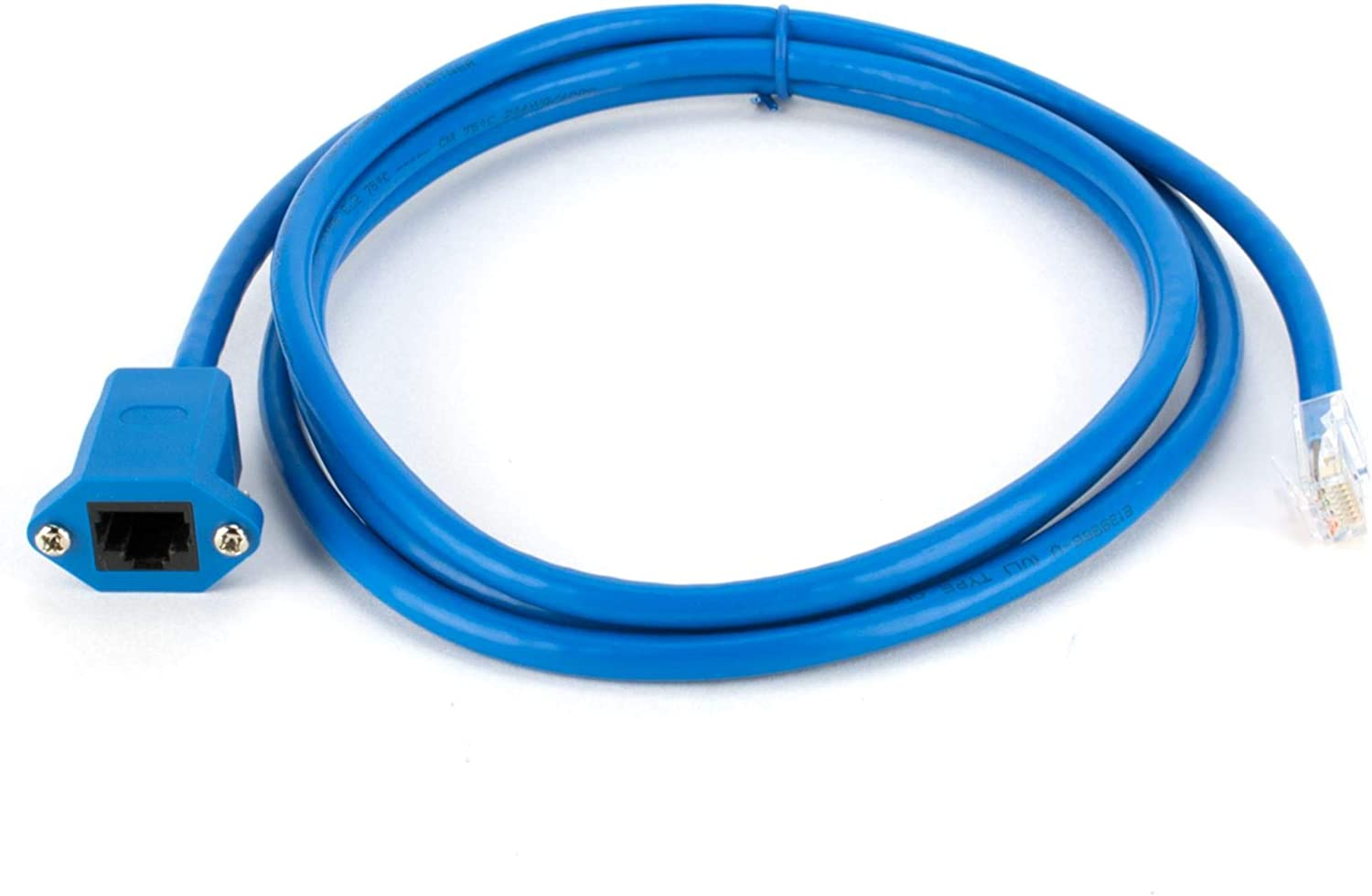 Networx 6ft Cat6 Male to Female Screw Panel Mount LAN Network Extension Cable