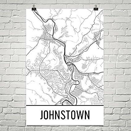 Amazon Com Modern Map Art Kennewick Wa Map Tri Cities Art
