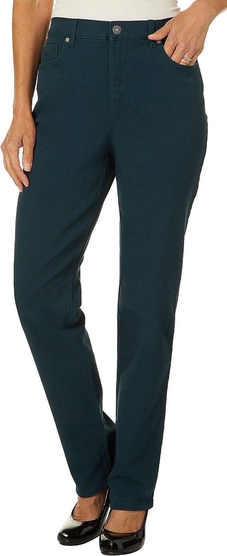 Amazon Com Gloria Vanderbilt Womens Amanda Classic Denim Jeans 14 Short Deep Verde Green Clothing