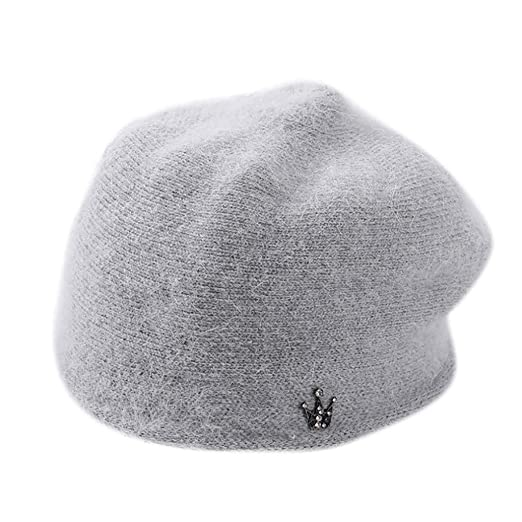 45d585df Women Winter Warm Cap Knitted Hat -Vovomay Beret Baggy Beanie Hat Slouch  Ski Cap (Grey) at Amazon Women's Clothing store: