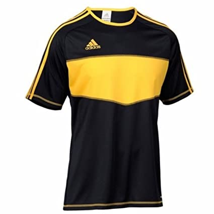 Adidas Camiseta Entrada Negra-Amarilla Talla 2XL