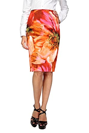 745f986e0ac5f2 Basler Jupes Jupe INDIA - Femme, Couleur: Corail, Taille: 46: Amazon ...