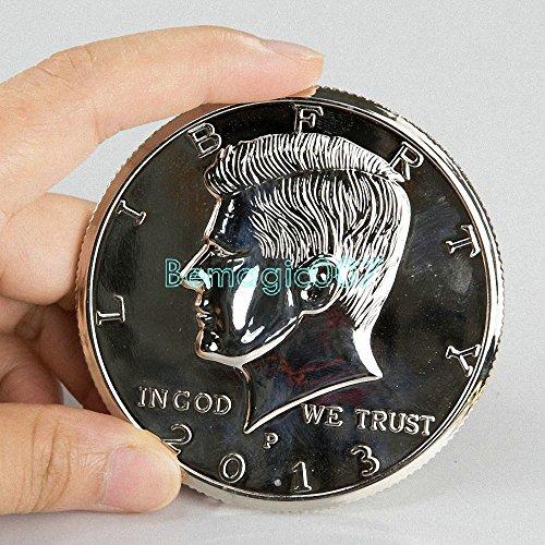 3 Inches Silver Jumbo Half Dollar - Coin&Money Magic (Jumbo Coins)