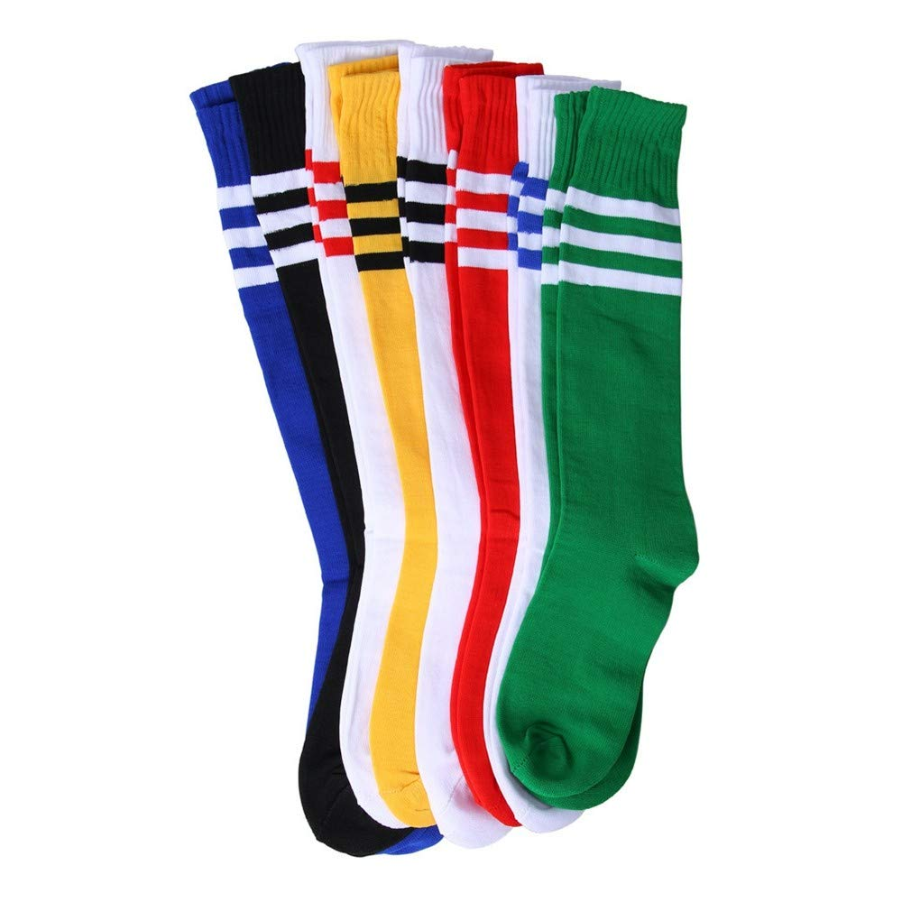XUHAHAWZ Socken/Long Tube/Sports Socks/Student / Children/Three Bar/Stripes / Football Socks/Boys and Girls XUHAHAWZ@