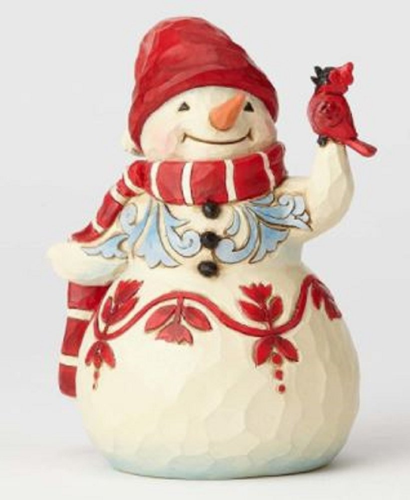 Enesco Jim Shore Heartwood Creek Pint Sized Snowman w/ Cardinal