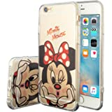 Apple iPhone 6/ 6s Case HCN PHONE silicone cover TPU Transparent Ultra-Fine Drawing animated pretty for Apple iPhone 6/ 6s - Minnie Mouse