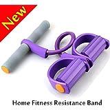 Casa Resistenza Fitness Band Pedale,W-Unique Pedale Fune Cinghie corda per Esercizio Di Resistenza,Sit-up Tummy Trainer Attrezzo per Addominali