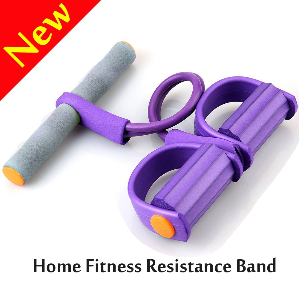 V-Resourcing 022 Pedal Resistance Band Elastic Pull Rope Fitness Equipment,Bodybuilding Expander for Abdomen/Waist/Arm/Leg Stretching Slimming Training