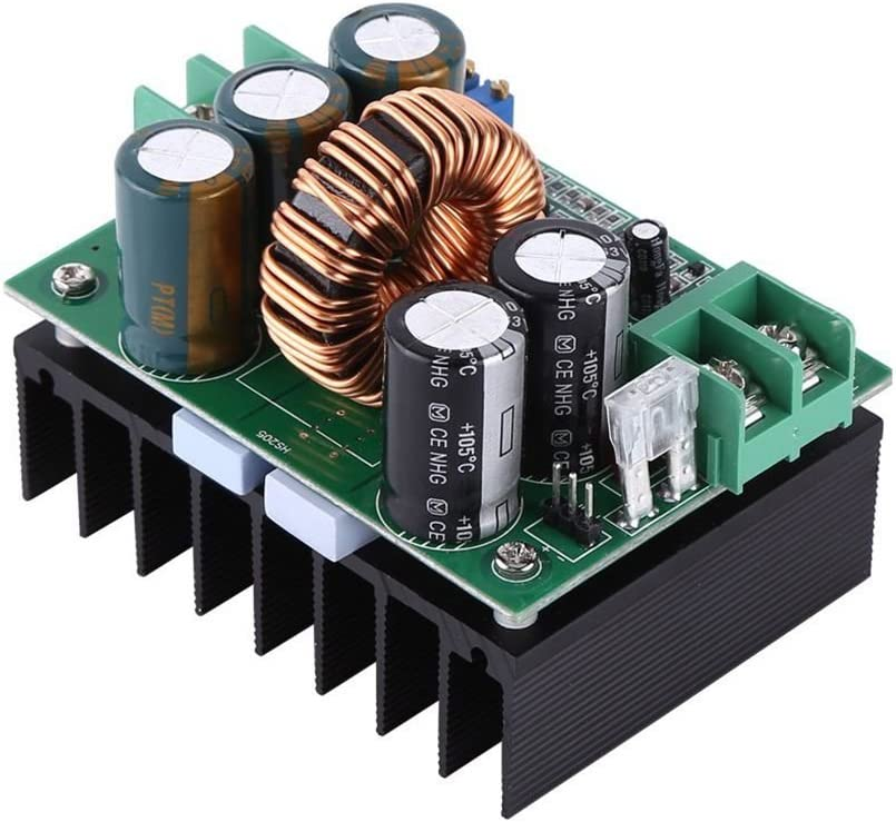 Kongnijiwa Modul Serie 1200W 20A DC-Wandler-Boost-Step-up Stromversorgungsmodul IN 10-60V Out 12-80V On-Board-Regulator