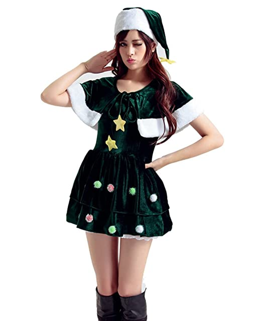 Amazon.com: AOYOMO Holiday Party Outfit Women Christmas Tree ...