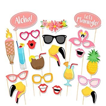 tinksky hawaii themed summer party photo booth props kit diy luau