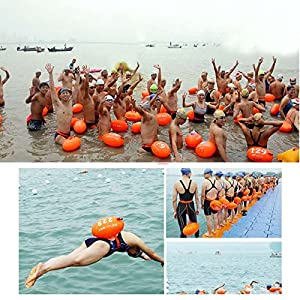 Hongfei Water equipment swimming airbag safety buoy adult PVC Thickening dual airbags Storage of personal items Highly Visible Buoy Float positioning equipment