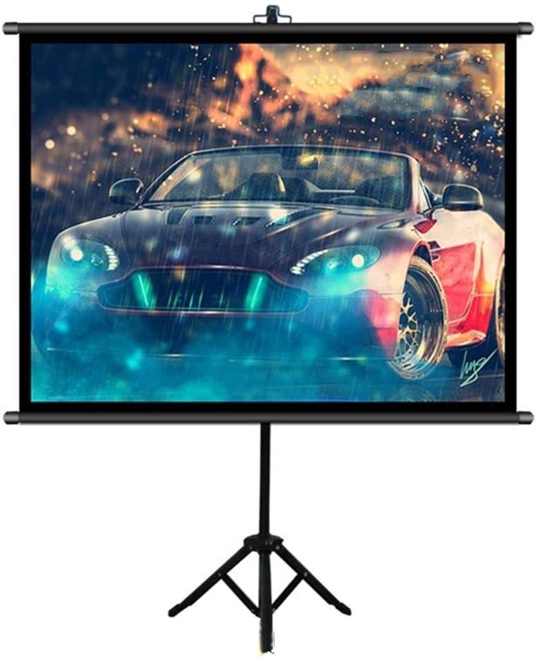 壁掛け式スクリーン 映画やオフィスプレゼンテーション用スタンド投影スクリーンとプロジェクタースクリーン 投射スクリーン 映画鑑賞/オフィス会議/プレゼン (Color : Black, Size : 50inch)