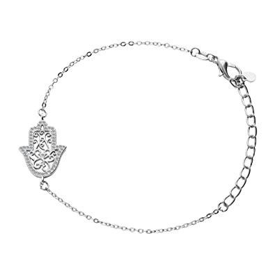 Hamsa Hand Bracelet For Women Girl Cuff
