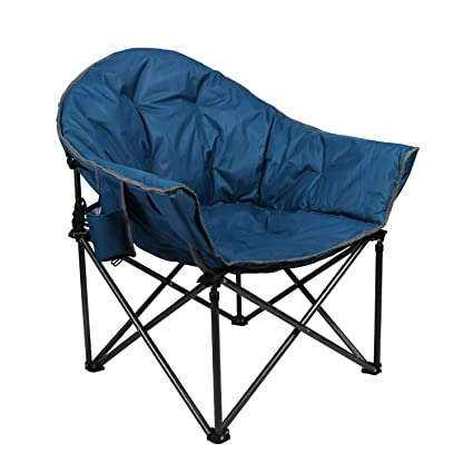 Super Alpha Camp Upgrade Moon Saucer Folding Camping Chair With Cup Holder And Carry Bag Faience Creativecarmelina Interior Chair Design Creativecarmelinacom