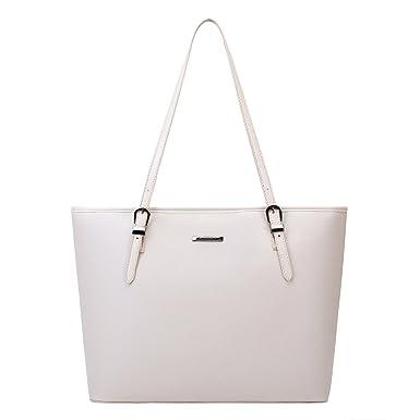 94fd04eed3a0e Amazon.com  ECOSUSI Women s Top Handle Handbags Purse Tote Shoulder ...