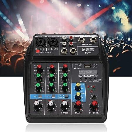 Consola de Mezcla de Audio Profesional, Función de USB ...