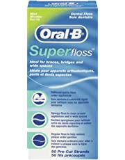 Oral B SuperFloss Super Dental Floss for Braces Bridges