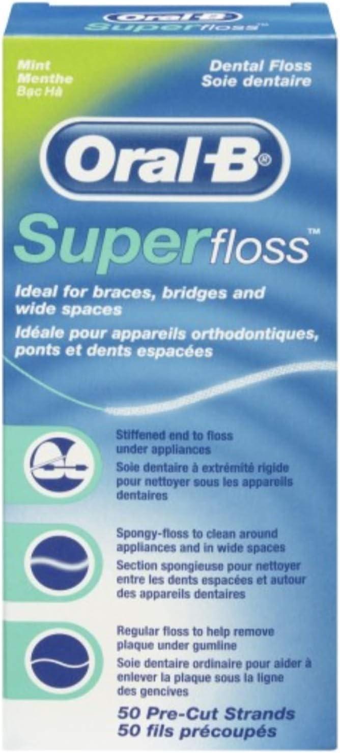 Oral B 50 piezas pre-cortadas Superfloss - Pack de 3: Amazon.es ...