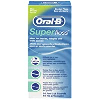 Oral B 50 Pieces Pre-Cut Super Floss - Pack of 3