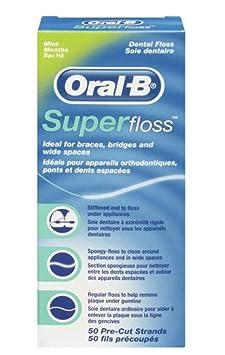 Oral-B SuperFloss Zahnseide 50 Fäden, 1er Pack (1 x 50 Fäden)