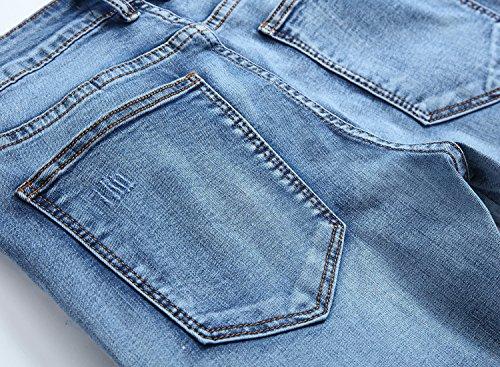 Jeans Light Blue Yiankun Uomo Jeans Uomo Yiankun Yiankun Uomo Blue Jeans Light vR8Pwqg