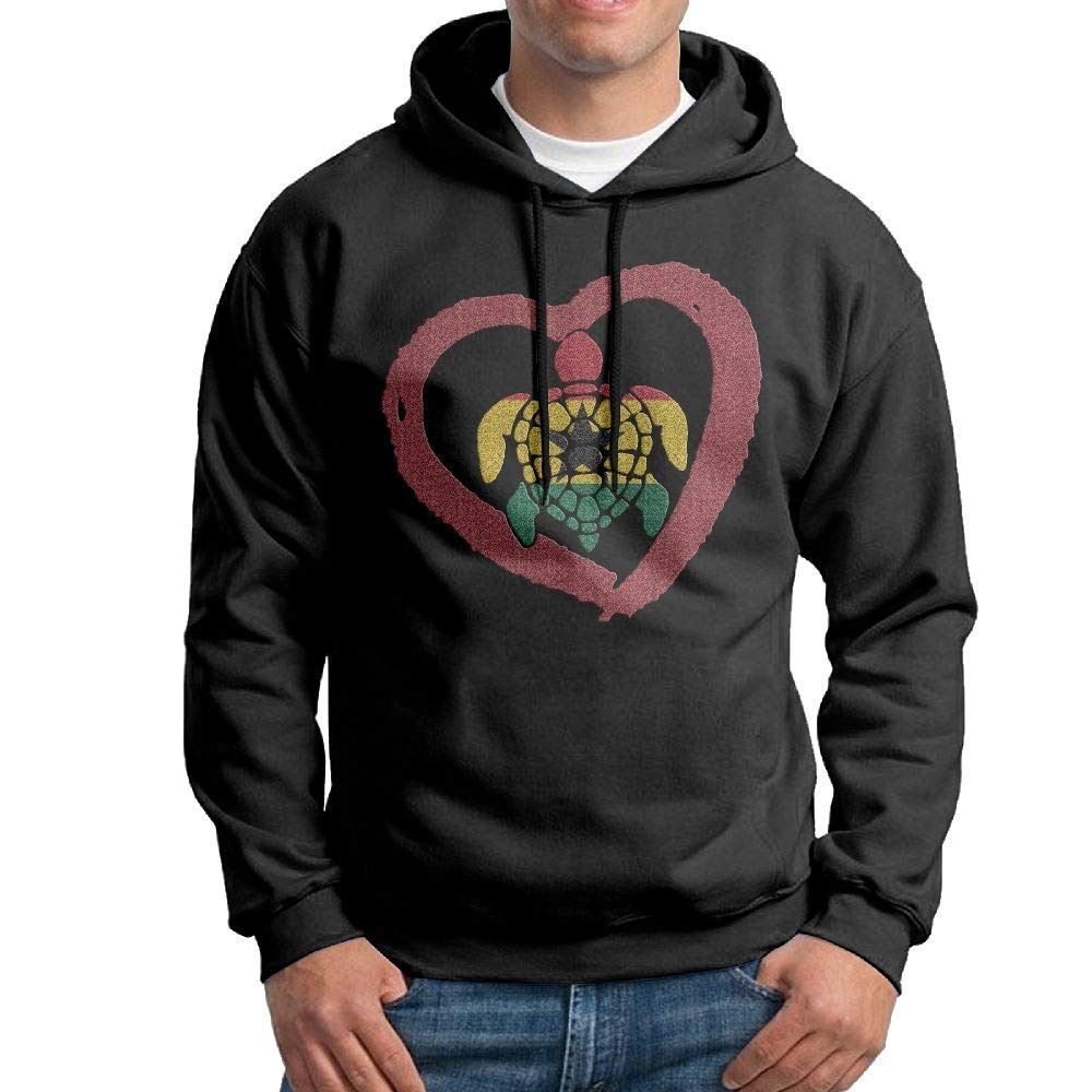 Boys Sea Turtle Ghana Heart Patterns Print Athletic Pullover Tops Fashion Sweatshirts