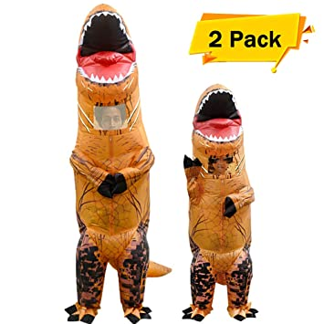 VAMEI 2pcs Disfraz Dinosaurio de Halloween traje inflable T ...