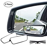 Ampper Square Blind Spot Mirror, 360 Degree HD Glass and ABS Housing Convex Wide Angle Rearview Mirror for Universal Car Fit (Pack of 2) (Color: Square, Tamaño: Square)