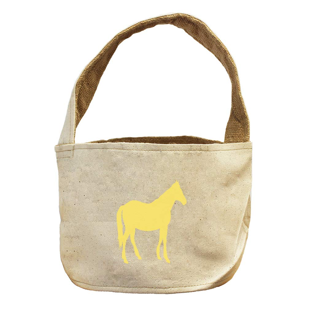 Style in Print Horse Shadow Animals Canvas and Burlap Storage Basket